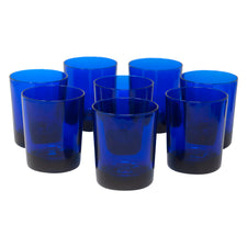 Vintage Mid Century French Cobalt Blue Rocks Glasses | The Hour Shop