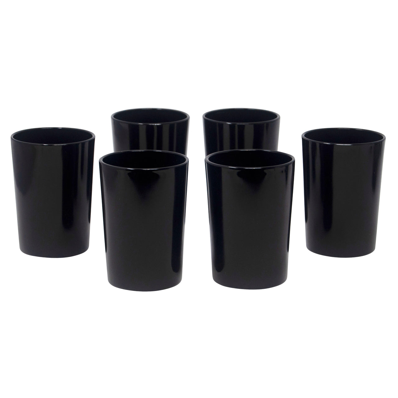 Vintage Anchor Hocking Black Tumblers | The Hour
