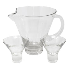 Vintage MCM Clear Cocktail Pitcher Set | The Hour Shop