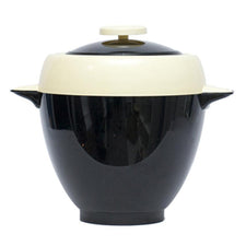 Vintage Brillium Art Deco Black & Cream Ice Bucket, The Hour Shop Barware