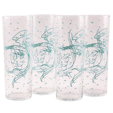 Fred Press Vintage Aqua Rooster Zombie Glasses, The Hour Shop