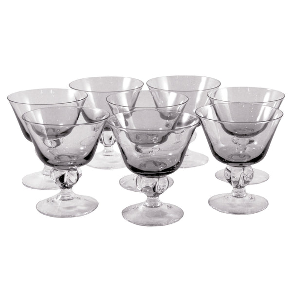 Vintage Ingrid Gulli Smoke Glass Cocktail Glasses, The Hour Shop