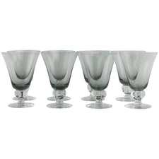 Vintage Ingrid Gulli Smoke Glass Goblets, The Hour Shop
