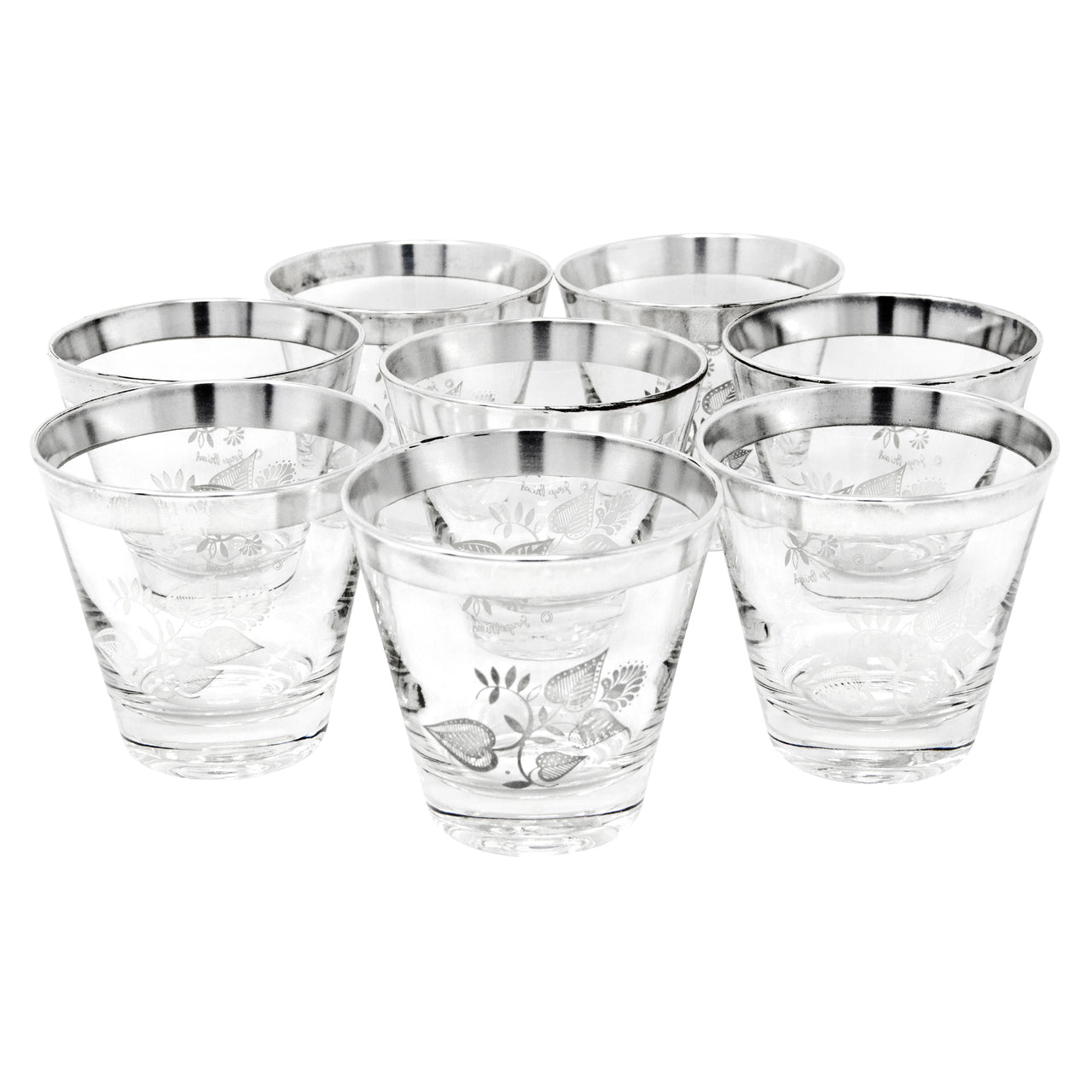 Georges Briard Sterling Leaf Old Fashioned Glasses