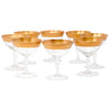Vintage West Virginia Glass Gold Band Coupe Glasses | The Hour Shop