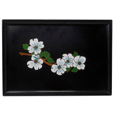 Vintage Couroc Dogwood Branch Serving Tray | The Hour Shop