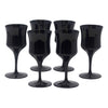 Vintage Mid Century Modern American Manor Small Black Wine Glasses | The Hour