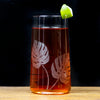 The Modern Home Bar Etched Philodendron Highball Glasses Cocktail Photo