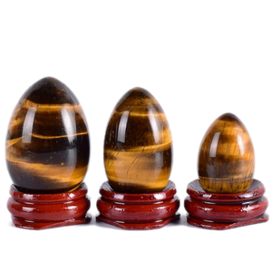 Undrilled Tiger Eye Crystal Yoni Egg