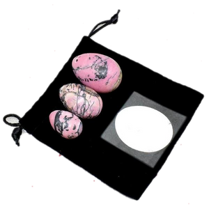 Pink and Black Rhondonite Yoni Egg