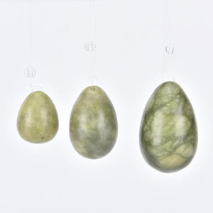 Green Jade Yoni Set Of Three