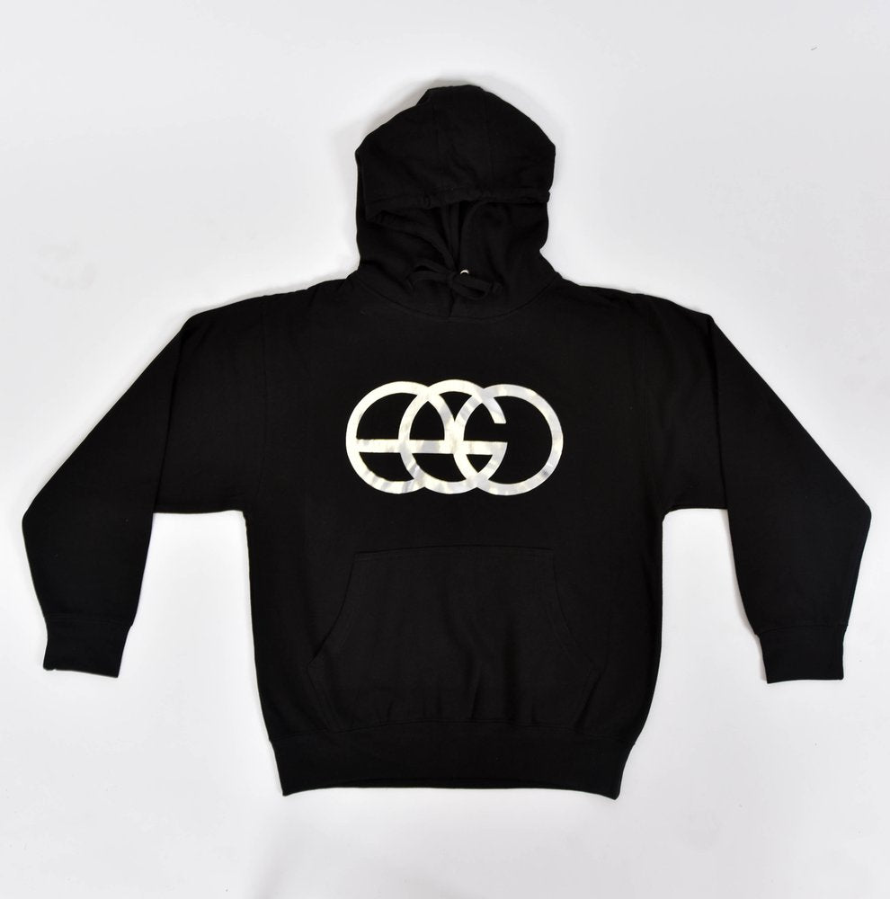 Black Hoodie with Chrome EGO Logo
