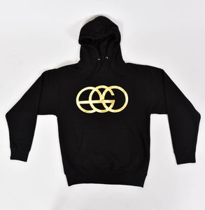 Black Pullover Hoodie with Gold EGO Logo
