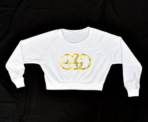 Urban Streetwear Crop Tops with Gold EGO Logo