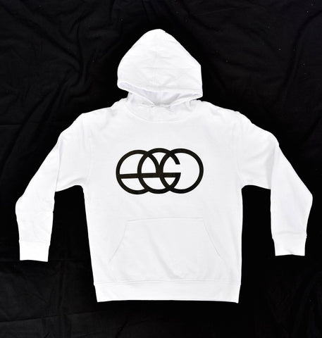 White EGO Pullover Hoodie