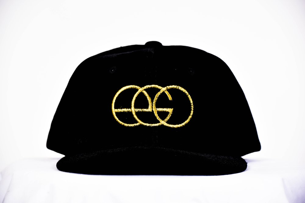 "EGO ""Black Gold"" Faux Suede Snapback"