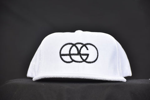 White Faux Crushed Velvet EGO Snap-back