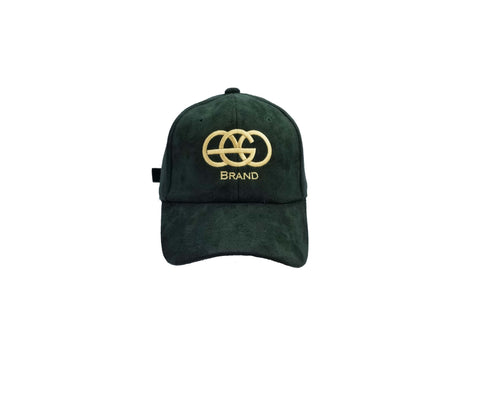 Green EGO Brand Suede Adjustable Hat