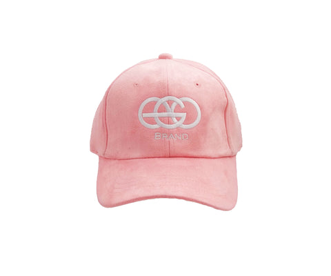 Pink EGO Brand Suede Adjustable Hat