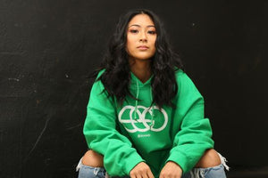 Mint Green EGO Hoodie - kangaroo Pocket Hoodies