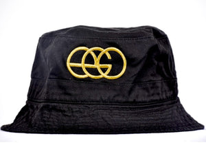 Black and Gold EGO Brand Bucket Hat