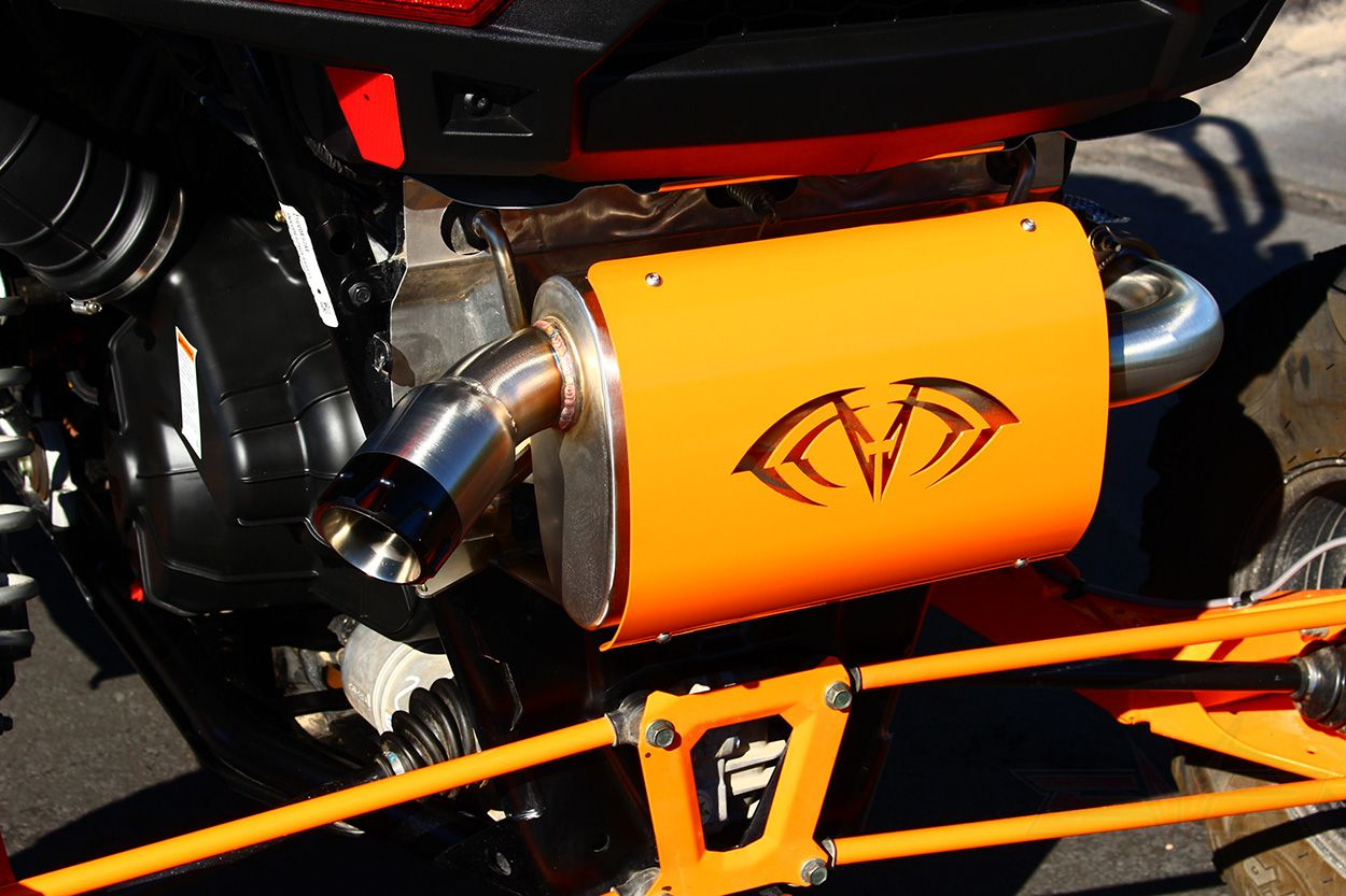 POLARIS RZR XP TURBO MAGNUM SLIP ON EXHAUST