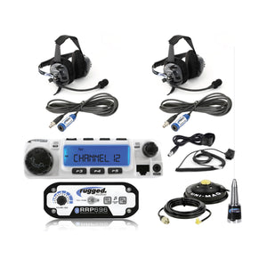RUGGED RADIOS 2-PLACE INTERCOM WITH RADIO AND HEADSETS