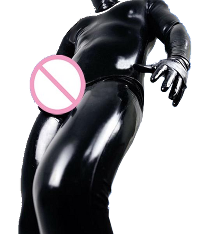 The Up All Night Latex catsuits with condom