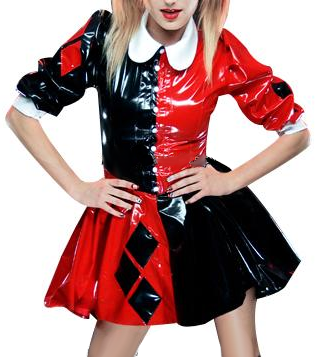 Variety of colors Clown Latex costumes for women