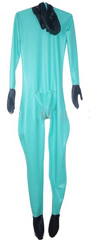 Variety of colors Multi-color with Feet Hood and gloves Latex catsuits for men