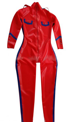 Variety of colors with pocket Latex catsuits for men