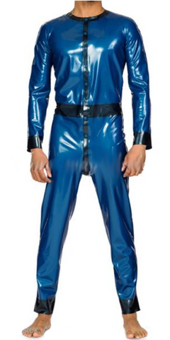 Variety of colors with Front buttons Latex catsuits for men