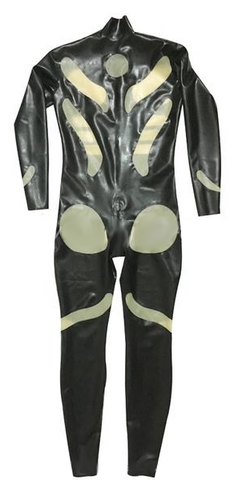 Variety of colors Shoulder zip Latex catsuits for men