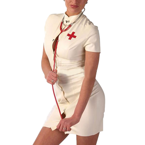 Busty Nurse Latex costume