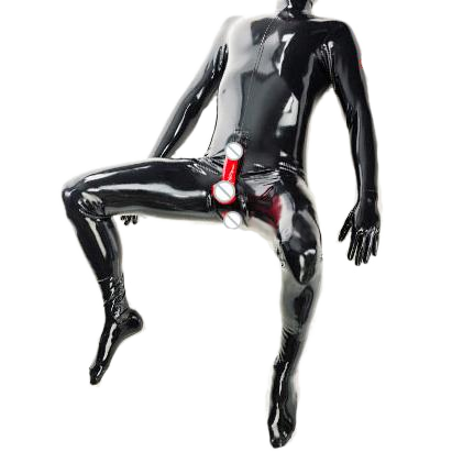 Skin-Tight-Fit-Is-In Latex Bodysuit with condom