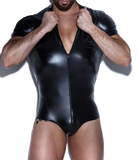 Seductive Man Zippered Leotard Suit