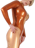 Metallic Vixen Latex Eveningwear