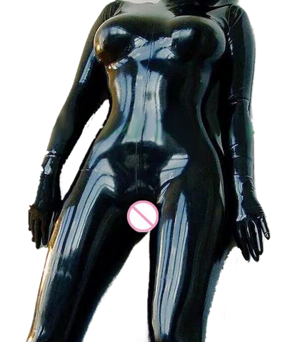 The Ultimate Rebel Latex catsuits with condom