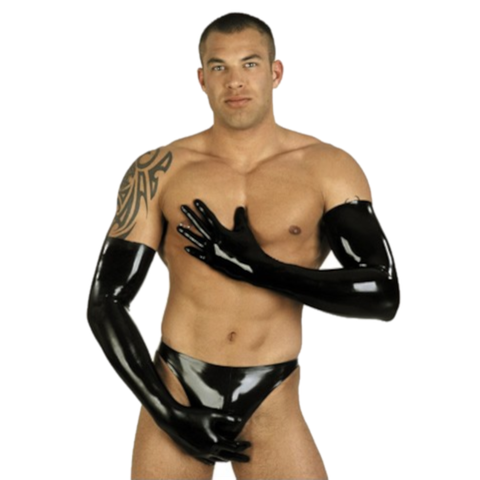 Muscle Enhancer Long Latex Gloves for Men