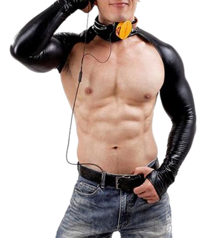 Black Latex bodysuit for men