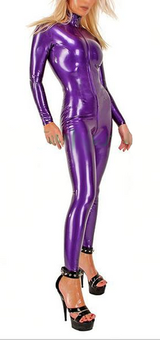 Multi-colored Unitard Latex Catsuits for Women