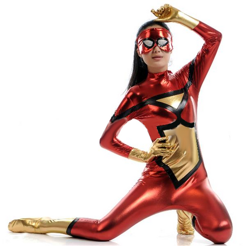Red Hot Superwoman Costume Bodysuit