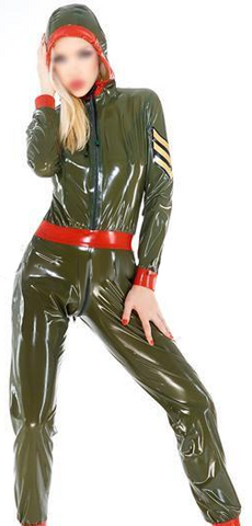Spunky Female Military Catsuit