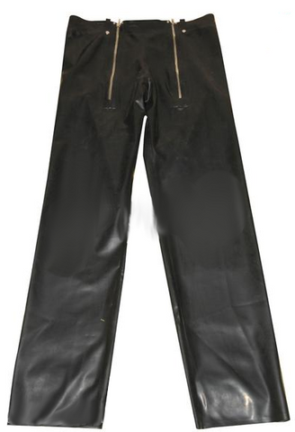 Straight Cut Latex Pants for Men