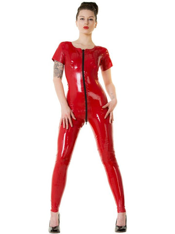 Short-Sleeve Foxy Latex Catsuit
