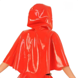 Amourous Riding Hood Crop Latex Robe