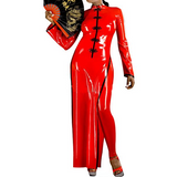 Fiery Chinese Siren Latex Dress