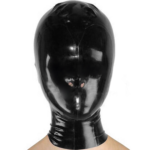 Exotic Mask With Back Zipper Latex hoods for women