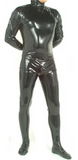 Full Body Latex Catsuit with Hoodie for Men