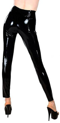Long Legged in Black Latex Pants